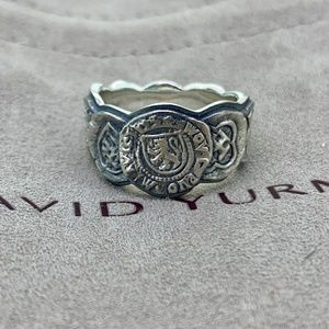 David Yurman Shipwreck Coin Band Ring
